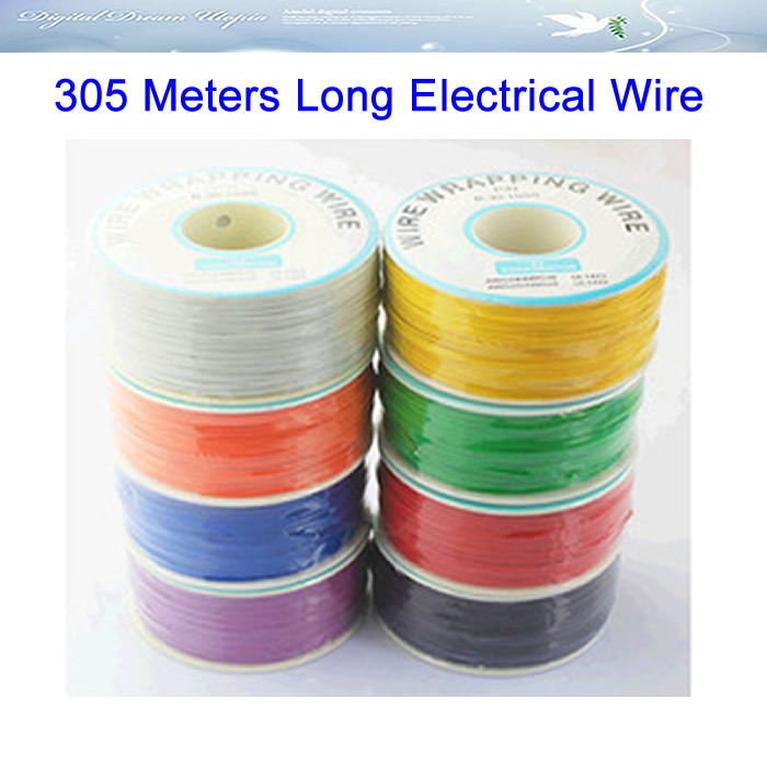 305 meters long electrical wire line high quality 30awg ok line q9 free ship ,best price panda electrical wire cable bvr flexiblecords 0 75 100 meters