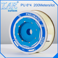 6mm*4mm *200m pu tube,pu pneumatic tube,polyurethane pu tube, air tube,air hose tubing white