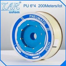 6mm*4mm *80m pu tube,pu pneumatic tube,polyurethane tube, air tube,air hose tubing white