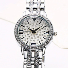 Original Women Fashion Silver Quartz Watch Lady Steel Watchband High Quality Casual Waterproof Wristwatch Gift for Wife цена 2017
