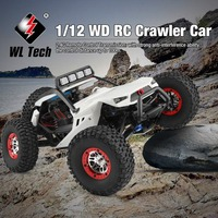Wltoys RC 4WD 1:12 RC Car Off Road Crawler Climbing Toys with Headlight Remote Control Vehicle Buggy Toys for Kids Gift RTR