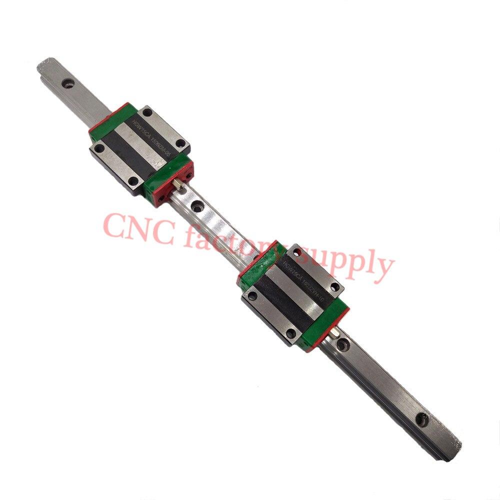 3D pièces d'impression machine cnc linéaire rail slide HGW15mm 15mm 1 pièces 15mm L-500mm + 2 pièces HGW15CA transport