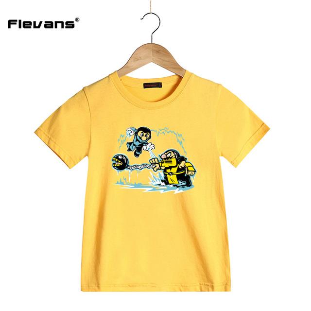 Dessin Animé D'été Enfants Coton T Chemises Super Mario VS Wario Imprimer Enfants Casual Vêtements Garçons Filles À Manches Courtes T-shirt Teea