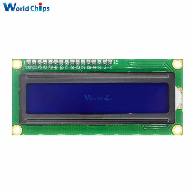 파란색 백라이트 디스플레이 iic i2c twi spi 직렬 인터페이스 1602 16x2 16x2 문자 디지털 lcd 모듈 보드 5 v arduino 용
