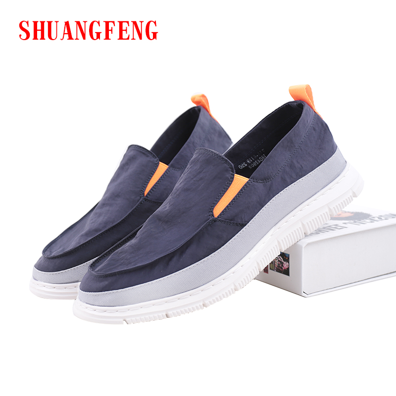 SHUANGFENG 2018 Summer NEW Fashion Mens Casual Shoes Man Flats Shoes Soft Breathable Sne ...