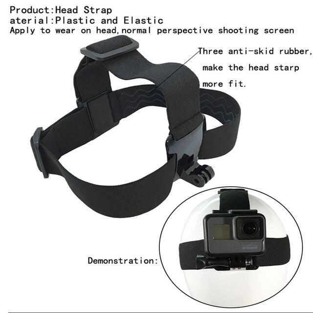 Head Strap Mount For SJCAM EKEN GoPro Hero 8 7 6 5 Yi 4K Sony Action Cam Accessories Harness Belt For Iphone Mobile Phone Holder