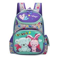 2019 Russian Kindergarten Kids Animal Backpacks Waterproof Schoolbags Satchel Boys Girls Children Cartoon Cat Bear School Bags