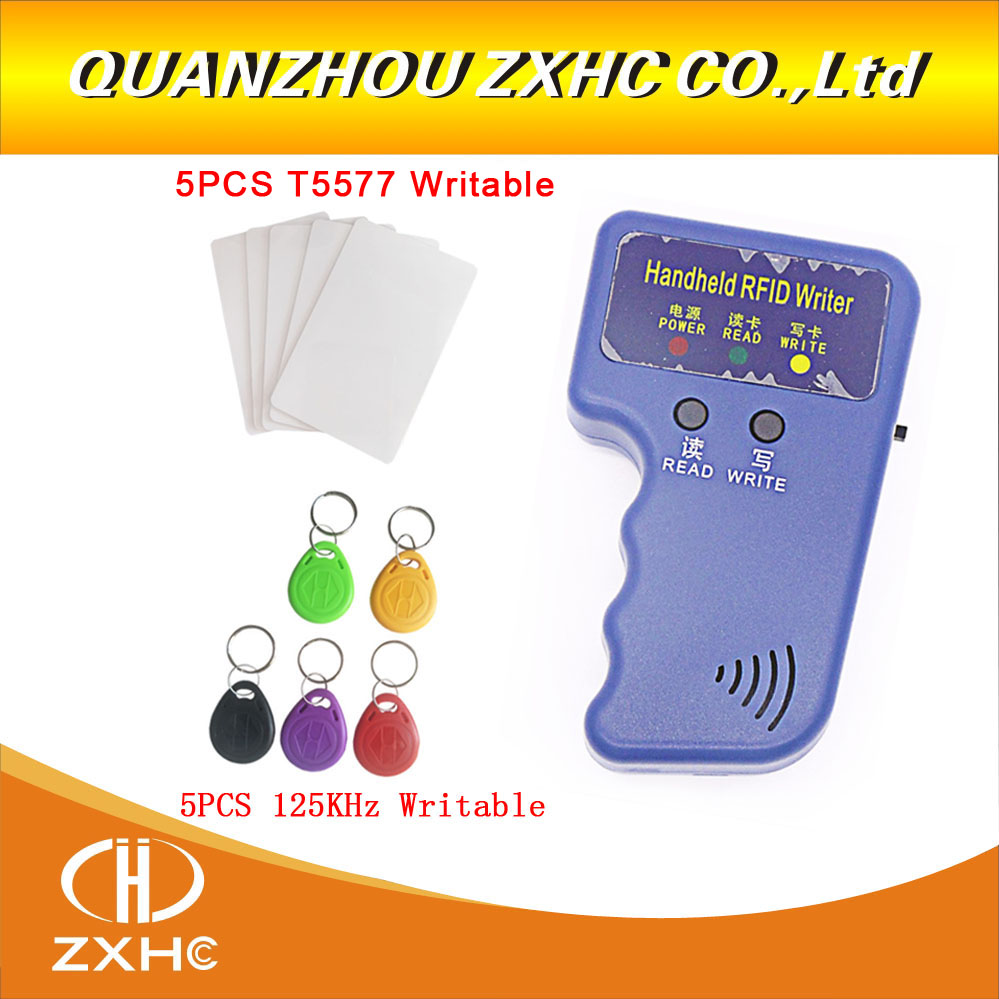 125KHz Handheld RFID Reader Writer Copier Duplicator For ID Card + 5pcs T5577 Cards and + 5pcs T5577 Keyfobs handheld rfid reader writer 125khz rfid copier duplicator for id card 5pcs t5577 card and 5pcs em4305 card page 9