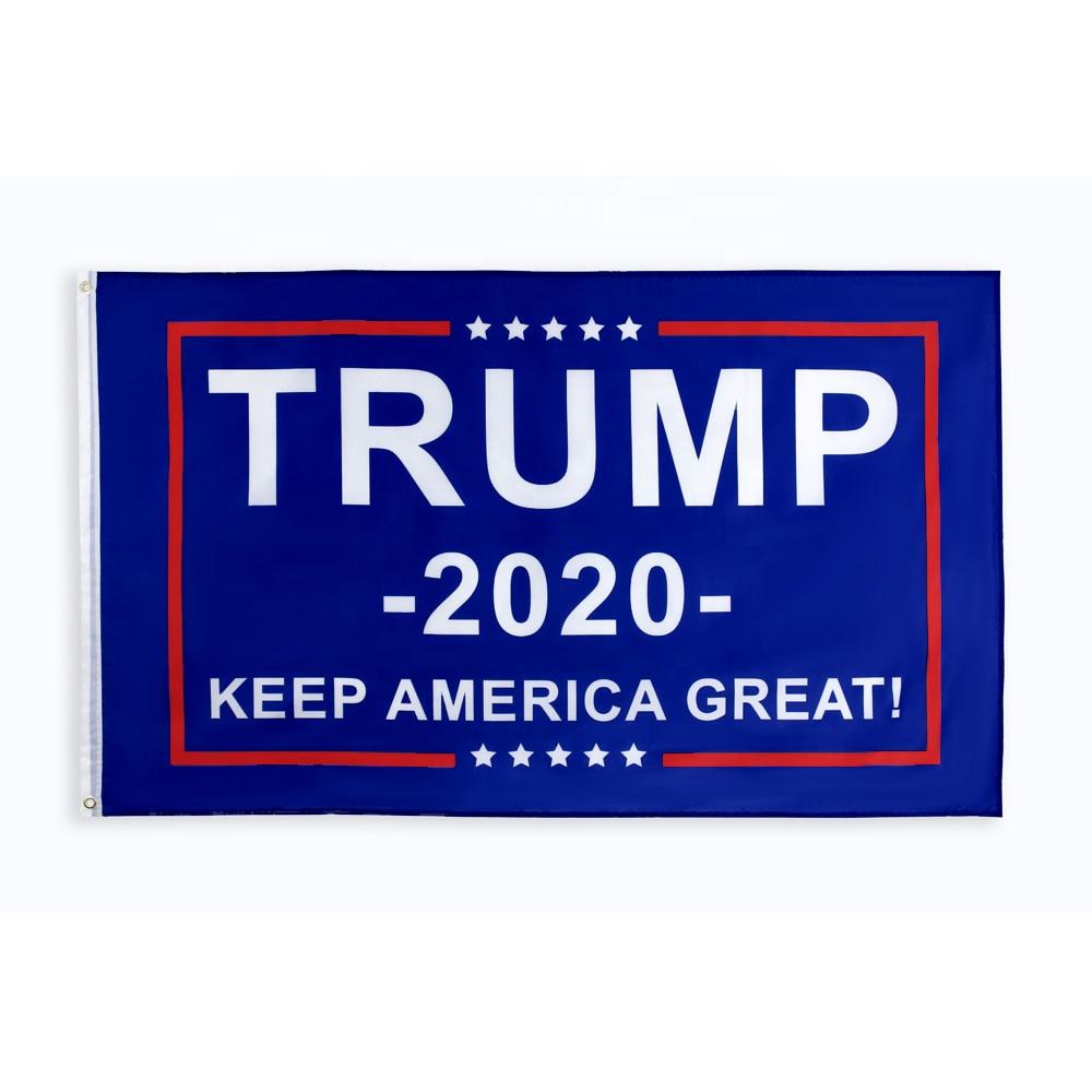 Johnin suspendu 90*150 cm plus de conneries garder l'amérique grand premier donald Trump drapeau pour 2020 président USA