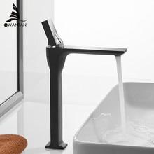 Grifo de lavabo Retro negro, grifo de lavabo, cubierta de orificio de un solo Mango, grifo mezclador frío caliente Vintage, grúa 855003