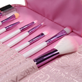 New Small and Cheap Beauty  8Pcs Professional Soft New Cosmetic Makeup Brushes Kit with Pink Holder Portable Case
