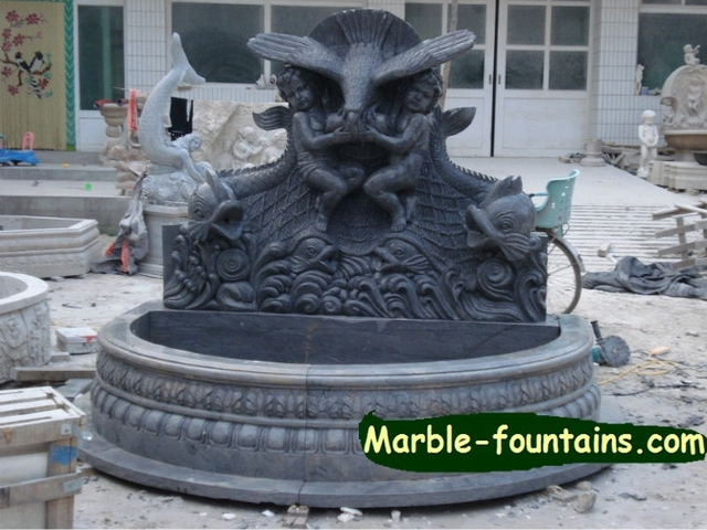 Garden Wall Fountains Fish Sculpture Stone Angels Element Back Yard Wall  Water Features For Garden Invest