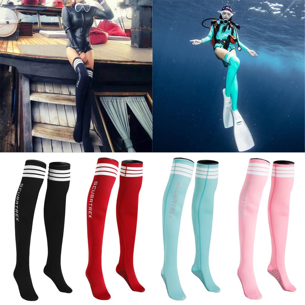 Neoprene 1.5mm Fin Socks Water Sports Snorkeling Diving Stocking Anti-Slip Socks Wetsuit For Women Lady Girls Snorkeling Booties