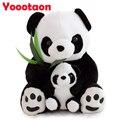 25 см Сидя Матери и Детеныша Панды Плюшевые Игрушки Фаршированные Panda Куклы, детские игрушки