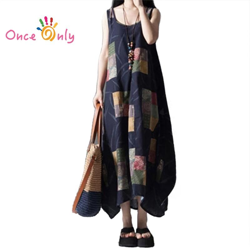 Long linen beach dresses