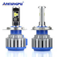 ANMINGPU 7000LM/Ensemble Phare Ampoules H7 H4 LED Ampoule H1 H3 H8 H9 H11 HB3/9005 HB4/9006 9012 9004 9007 70 W Auto Phare De Voiture lumière