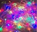 Color RGB 10 metros 80 Luz LED de Cadena 10 M IP20 luz de la decoración del banquete de boda del día de san valentín 220 v eu/110 v us cuerdas luz