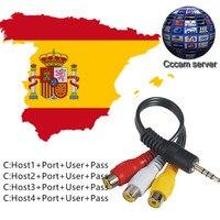 AV Cable Support Digital Satellite TV Receiver DVB S S2 FTA Set Top Box 4 Lines