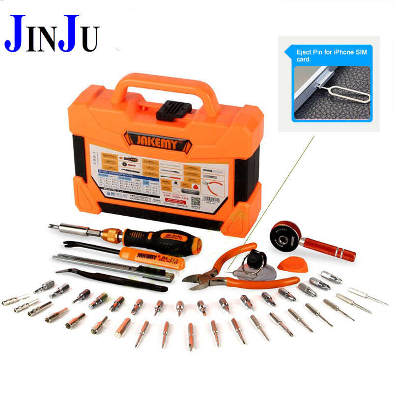 Professional Multi Tools 47 in 1 Kit Hand Opening Repair Tool Kit Screwdrivers Set For iPhone Sumsang Free Shipping JM-8146 стоимость