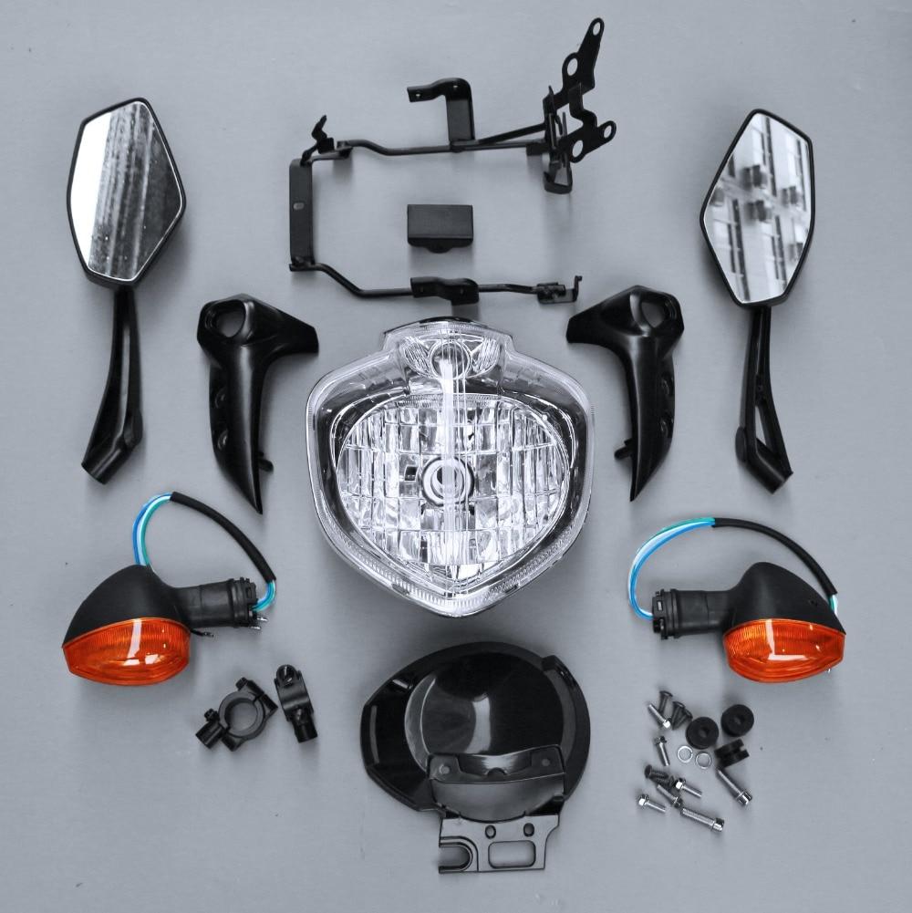 Motorcycle Headlight Set Head Light Assembly Fit For YAMAHA FZ6 2004 2006 2005