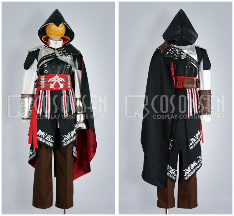 Aliexpress.com : Buy COSPLAYONSEN Ezio Costume BLACK ...