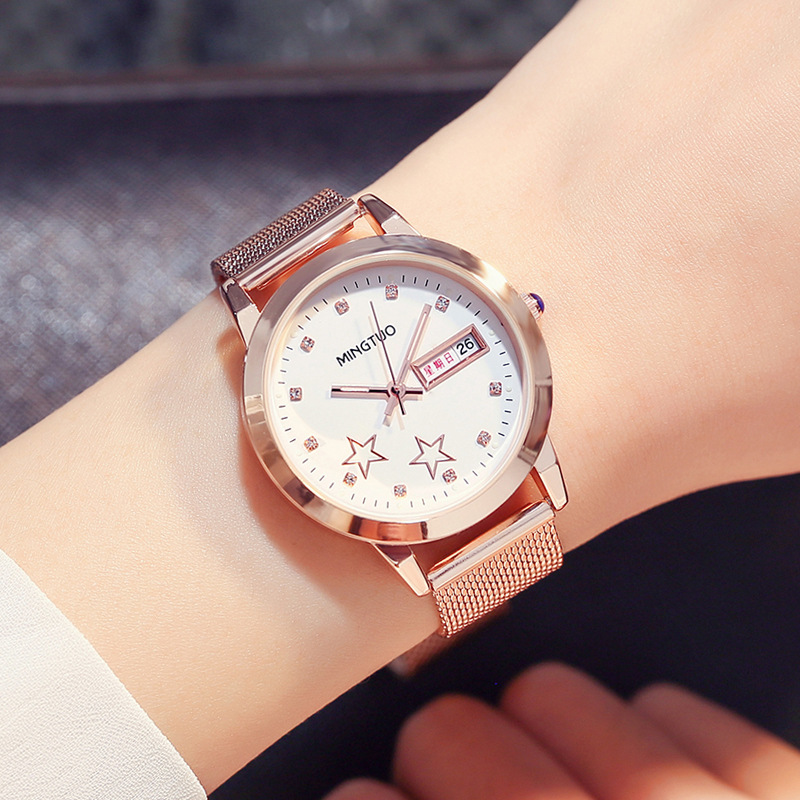 Relogios Feminino New Luxury Brand Quartz Watch Women Fashion Calendar Luminous Watches Stainless Steel waterproof Wristwatches keep in touch luxury women watches top brand quartz bracelet dress calendar rhinestone ladies watch luminous relogios feminino
