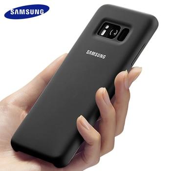 цена на Samsung S8 case silicone back cover galaxy S8 plus note8 hard phone case Full protective S 8 plus luxury S8plus 100% original