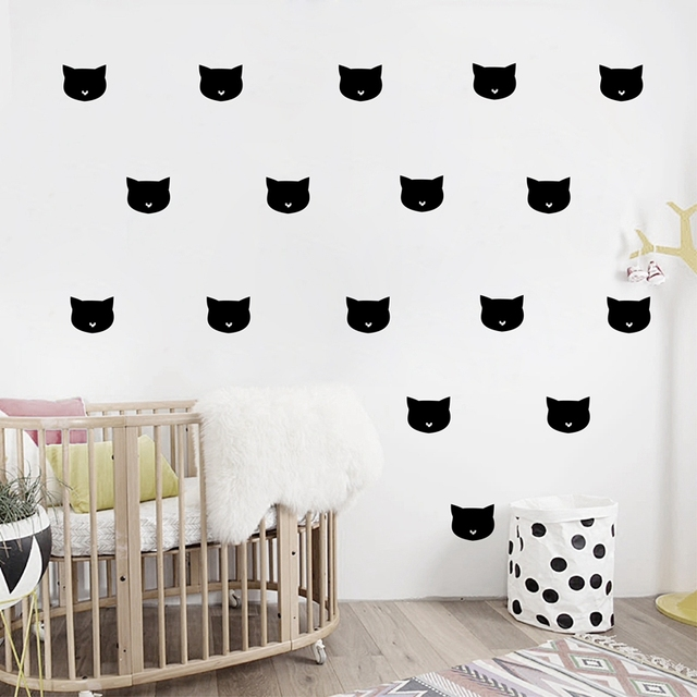 Lovely Catoon Little Cat Wall Sticker, Removable Girlu0027s Room Decoration Art Wall  Decals Free Shipping