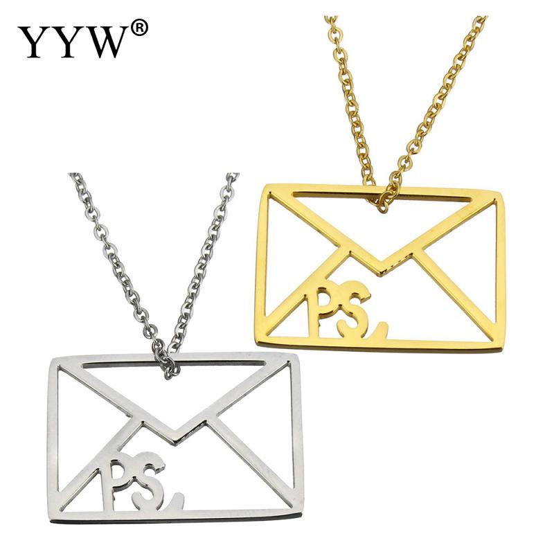 stainless Steel new arrival fashion jewelry Necklace 2 lnch extender chain envelope maile plated plating oval chain for woman