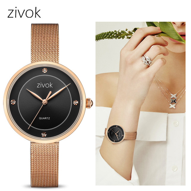 Top Brand zivok Luxury Women Bracelet Watches Rose Alloy Ladies Wrist Watch Analog Clock Womens Quartz Watches Relogio Feminino zivok fashion brand women watches luxury red lovers bracelet wrist watch clock women relogio feminino ladies quartz wristwatch