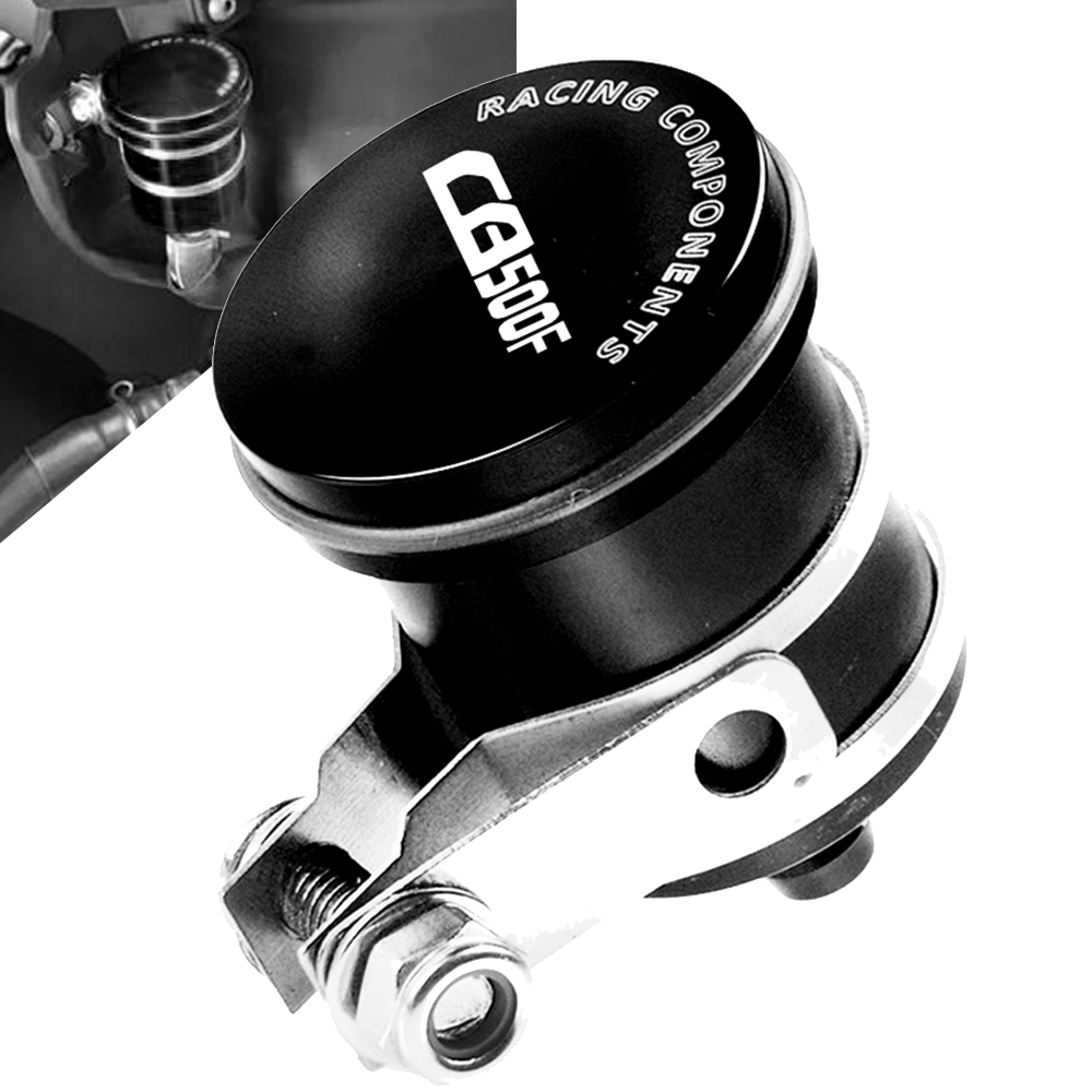 Aluminum Motorcycle Rear Brake Fluid Reservoir Clutch Tank Oil Cup for honda CB500F CB 500F 2013 2014 2015 2016 2017 2018 2019 image