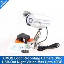Bala A Prueba de agua 7 Días de Detección de Movimiento x 24hrs Seguridad Al Aire Libre Al Aire Libre CCTV DVR Cámara Grabadora de Vídeo Digital DVR