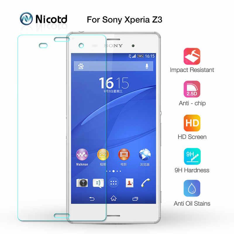 Nicotd الزجاج المقسى لسوني اريكسون Z3 واقي للشاشة 9 H 2.5D الهاتف على زجاج واقي ل اريكسون Z3 D6633 D6643 زجاج عليه طبقة غشاء رقيقة