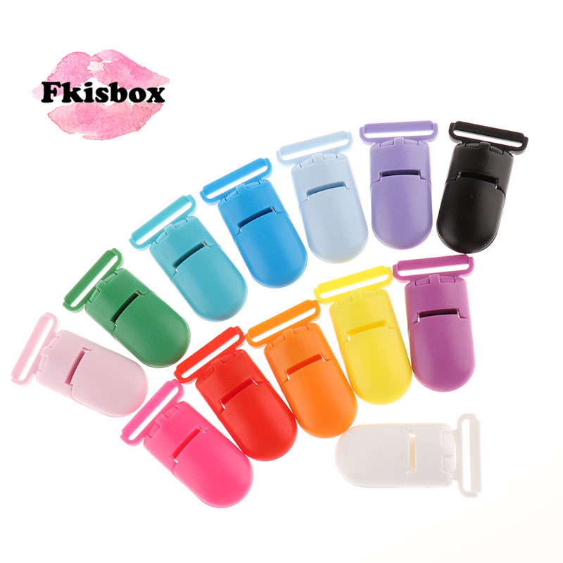 Fkisbox Plastic Baby Pacifier Clips 10pc DIY Infant Soother Nipple Holder Babies Teething Teether Necklace Jewelry Accessories