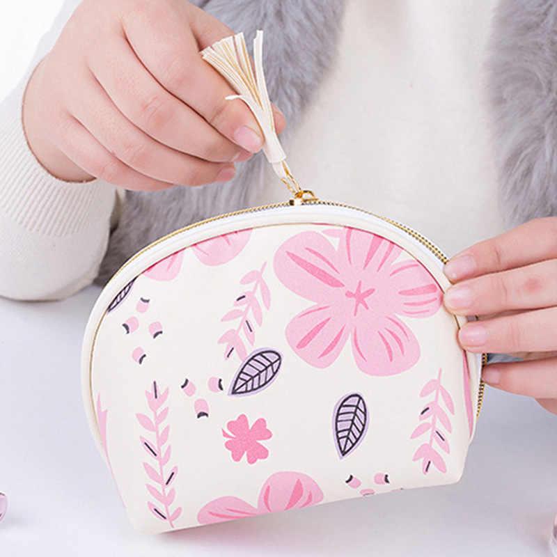 女性化粧品袋 Pu レザーダブルジッパーオーガナイザートイレタリーバッグケース女性化粧バッグ JIU55