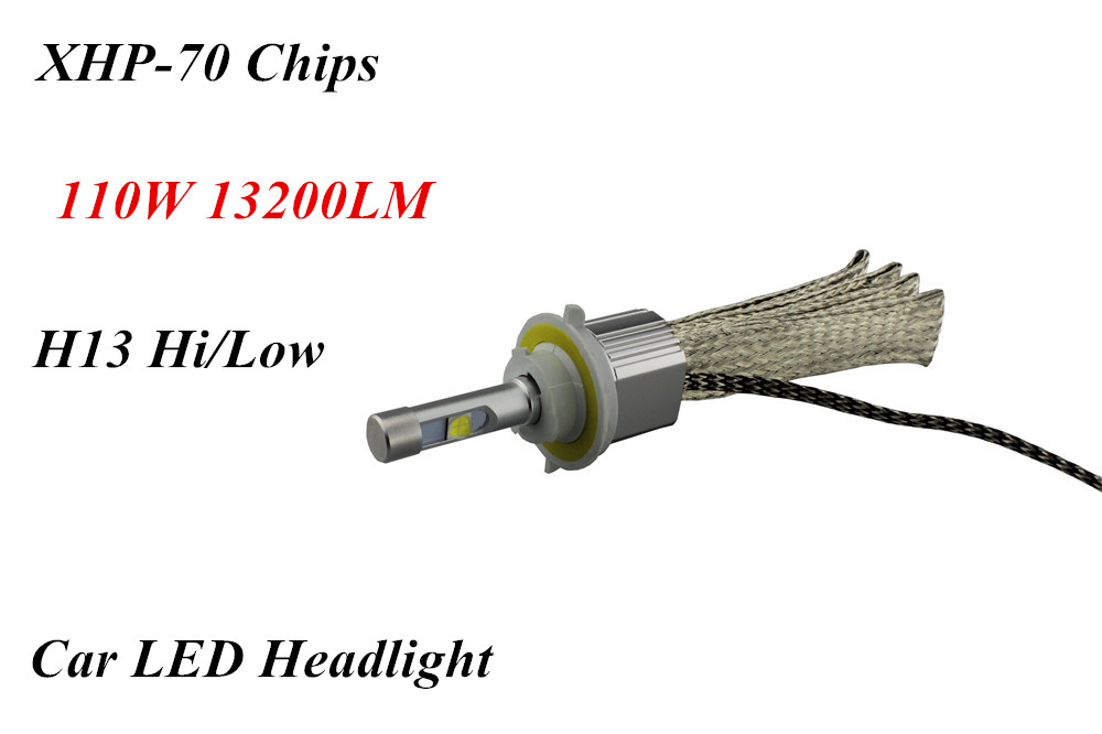 Высокая Низкая H/L Hi/Lo луч H13 110 Вт 13200LM 6000 К ксеноновые Белый XHP-70 чипов авт ...
