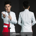 white red blazer jacket  men suits set wedding singer dress performance show nightclub clothing Blazer Outdoors Slim wear