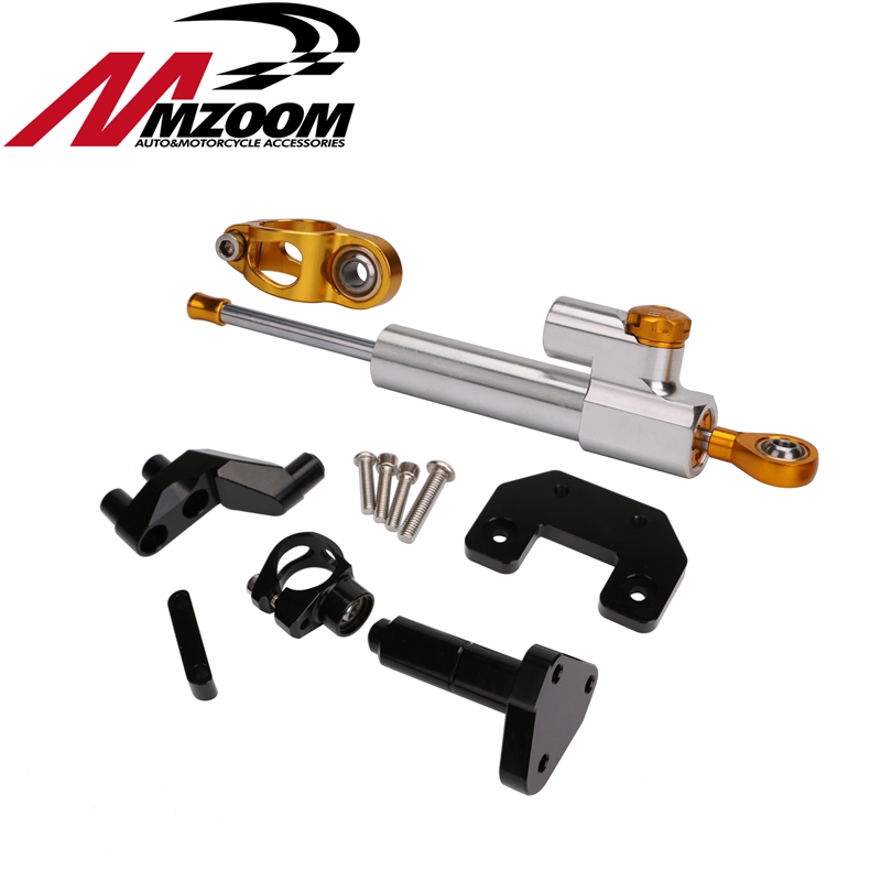 Motorcycle Aluminum CNC Steering Damper+Steering stabilizer mounting bracket for yamaha yzf r3 r25 2014-2016