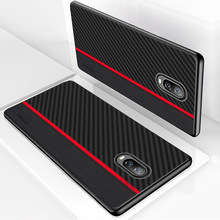for Oneplus 6T Case Cover Original CENMASO Carbon Fiber Leather Protection Back Cover for OnePlus 7 Pro 5 5t 6 6t Phone Case(China)