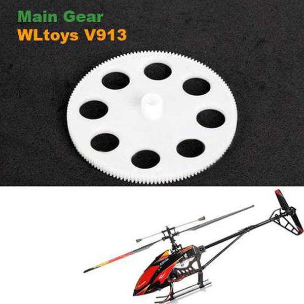 Wholesale rc helicopter parts WLtoys V913 RC Remote Control Helicopter Spare Parts Main Gear V913-03 high quality 5 x new wltoys v911 rc helicopter parts 200mah 3 7v li poly battery toys wholesale