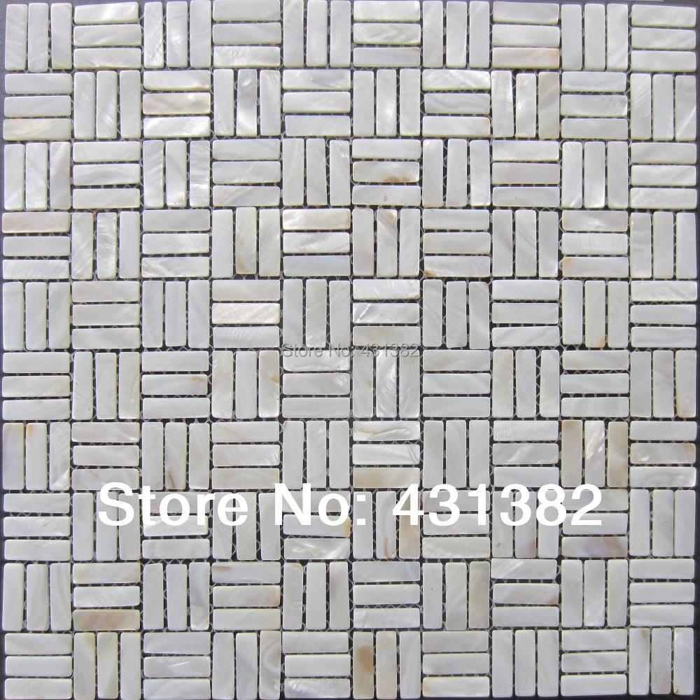 Mother Pearl Subway Shell Mosaic Tiles