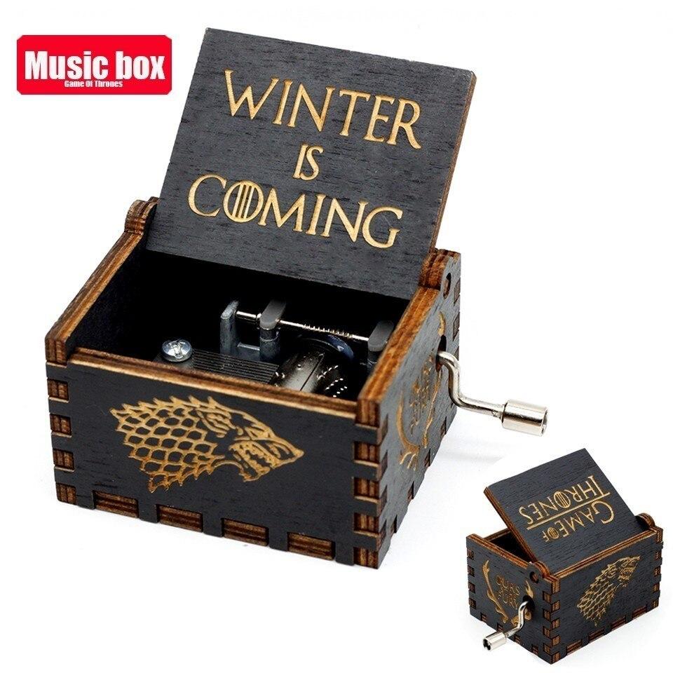 Горячая античная резная деревянная рукоятка Симпсоны игра трон музыкальная шкатулка подарок на день рождения Шкатулка анонимичность украшения Звездные войны - Цвет: Game of Throne