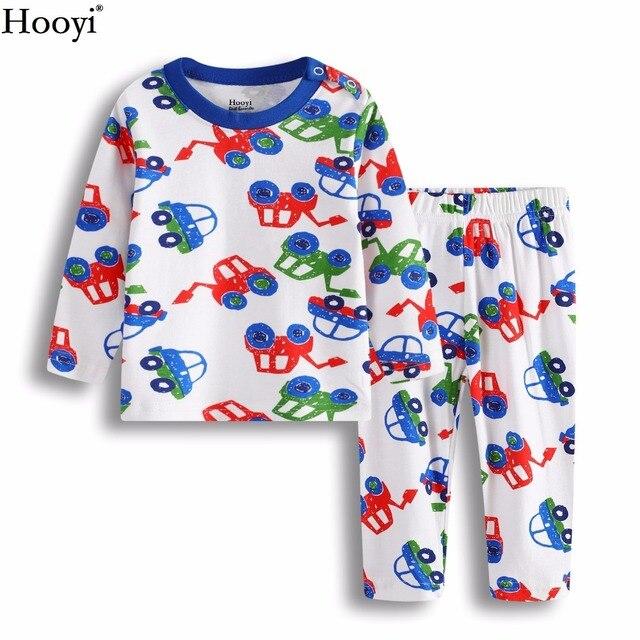 8b7f2440bbc5 Hooyi Digger Vehicle Baby Boys Sleepwear Clothes Suit 100% Cotton ...