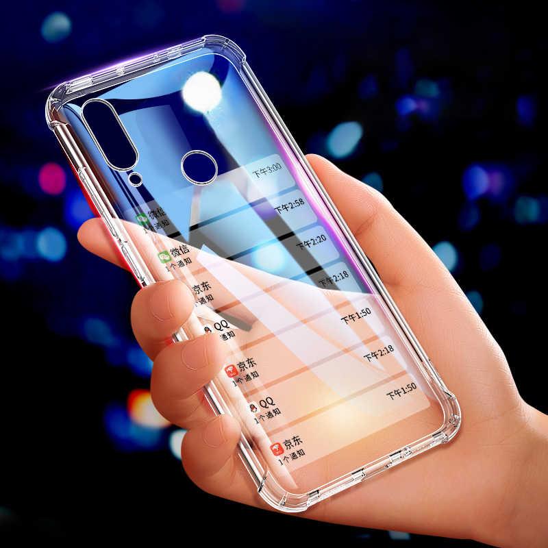 Crystal Clear TPU telefon obudowa do Xiaomi czerwony mi uwaga 7 6 5 Pro 6A 7 5 Plus mi 9 SE mi 8 A2 Lite A1 Max 3 zagraj mi x 3 2 s na poduszkę powietrzną
