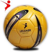 Yellow White Classic Style Men Football Soccer Ball Rubber Material Ball Size 4 Soccer Ball Children Training Ball