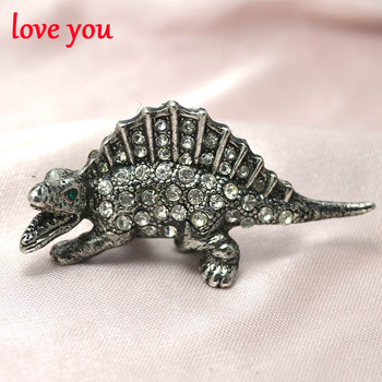 new 2016 fashion jewelry rhinestone dinosaur brooch for women cute vintage brooch pins cute style pins and brooches good gift