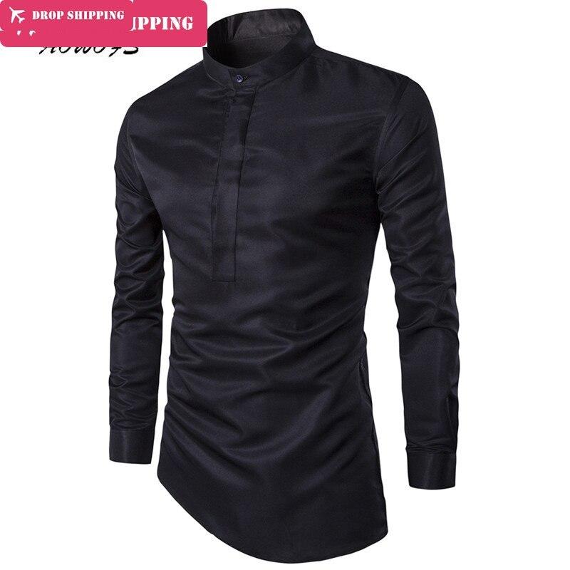 new concept 4be3b 6074a Dropshipping Camisa Masculina männer Mode Slim Fit Casual Shirt Langarm  Shirts Druck Männer Hemd, Asiatische Größe