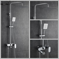 Bathroom Shower Set 8 10 12 inch Rain Shower Head Bath Shower Mixer with Hand Shower
