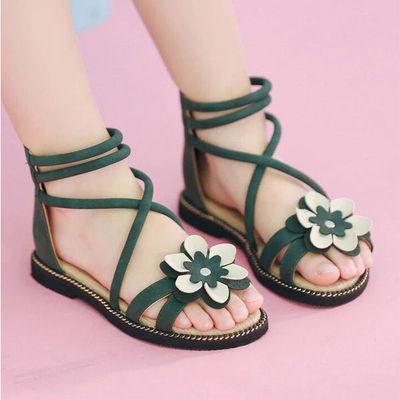 l Sandals Girls Shiny Summer Shoes Children Beach For Princess Kids New