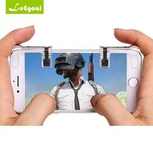 1 Pair Mobile Game Tombol Api Tujuan Kunci Ponsel Ponsel Pintar Untuk PUBG Aturan Kelangsungan Hidup Gaming Pemicu L1r1 Shooter Kontroler